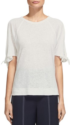 Whistles Tie-Cuff Cold-Shoulder Tee $129 thestylecure.com