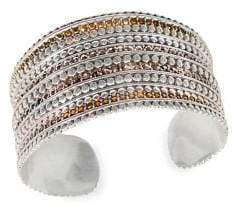 Lucky Brand Modern Opulence Silvertone Cuff Bracelet