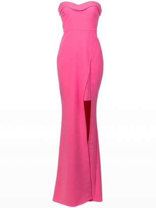 LIKELY slit front bandeau gown