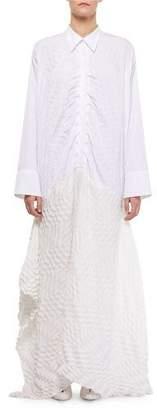 Roland Mouret Penhale Long Shirt Long-Sleeve Dress