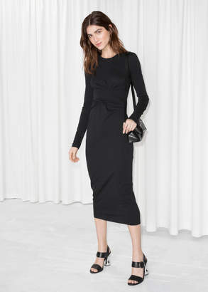 And other stories Twist Wrap Dress