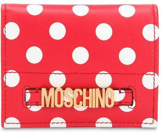 Moschino Dot Printed Leather Wallet