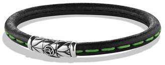 David Yurman Leather Bracelet in Green