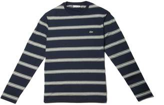 Lacoste Men's Crew Neck Striped Thick Jersey T-shirt