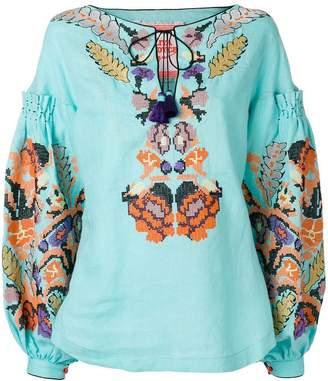 Yuliya Magdych Harvest embroidered top