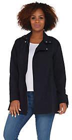 Martha Stewart Long Sleeve Zip Front AnorakJacket