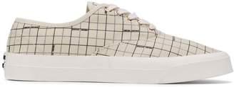 MAISON KITSUNÉ laced canvas sneakers