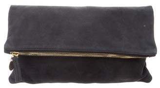 Clare Vivier Leather Fold-Over Pouch