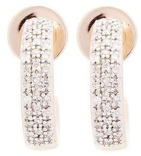 Monica Vinader Rose Gold Vermeil Fiji Mini Diamond Hoop Earrings