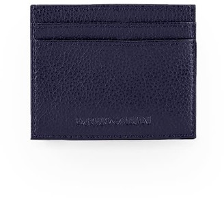 Emporio Armani Navy Blue Card Holder