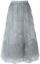 Valentino 蝴蝶刺绣薄纱半身裙