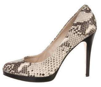KORS Embossed Leather Pumps