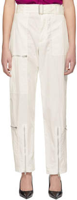 Helmut Lang White Flight Trousers