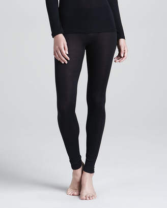 Hanro Silk Leggings, Black