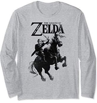 Nintendo Zelda Link Riding Epona Tonal Drop Long Sleeve Tee