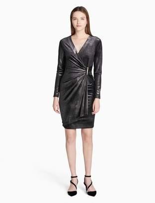 Calvin Klein velvet glitter wrap dress