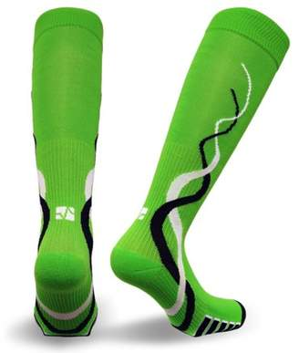 DAY Birger et Mikkelsen Vitalsox VTW0316 Race Day, Ladies Patented Graduated Compression Odor Resistant Running, Training, Recovery Socks (1 pair Women's), Medium, Green
