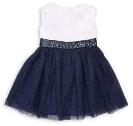 Dorissa Little Girl's Sequined Tulle Dress
