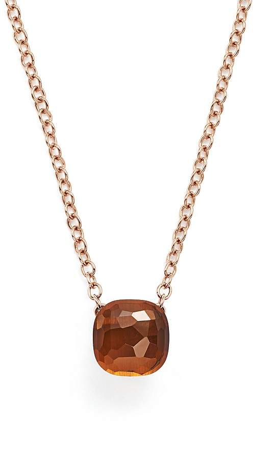 Pomellato Nudo Necklace with Madeira Quartz in 18K Rose and White Gold