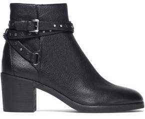 MICHAEL Michael Kors Buckled Studded Leather Ankle Boots