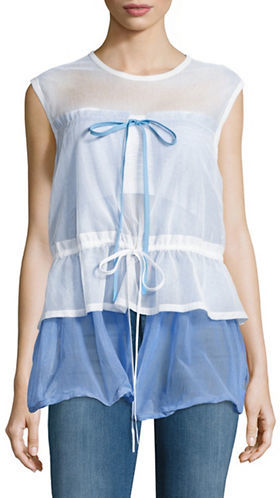 DKNY Dkny Sheer Sleeveless Top
