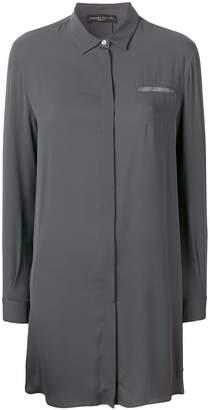 Fabiana Filippi rhinestone pocket trim shirt