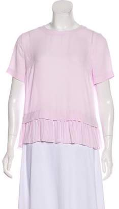 Elizabeth and James Woven Short Sleeve Top