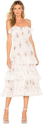 Zimmermann Heathers Pintuck Long Dress