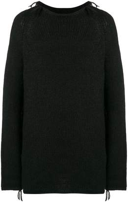 Poème Bohémien distressed knitted jumper