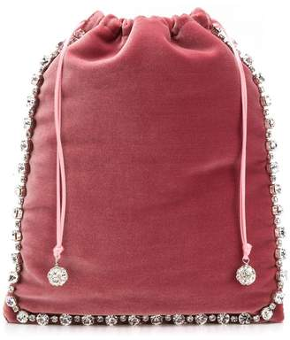 Ca&Lou embellished drawstring clutch