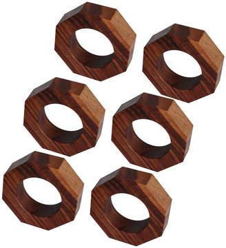 Calvin Klein Alan & Co. Hexa Wooden Napkin Rings