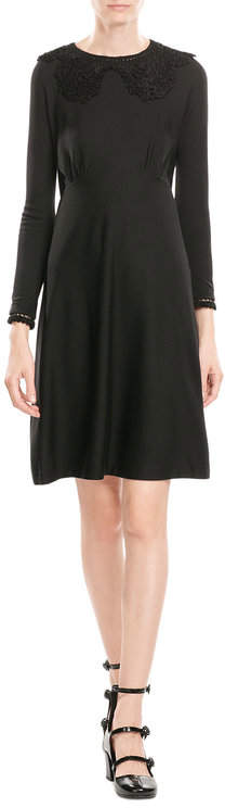 Marc Jacobs Marc Jacobs Wool Dress with Crochet Details