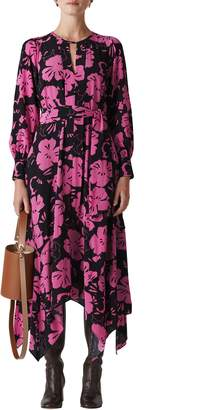 Whistles Ari Hibiscus Print Belted Dress