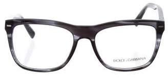 Dolce & Gabbana Logo Square Eyeglasses