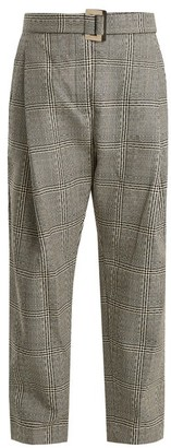 Ellery Kool Aid High Rise Checked Wool Trousers - Womens - Black White