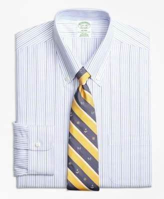 Brooks Brothers BrooksCool Milano Slim-Fit Dress Shirt, Non-Iron Candy Stripe