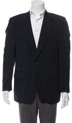 Christian Dior Pinstriped Two-Button Blazer