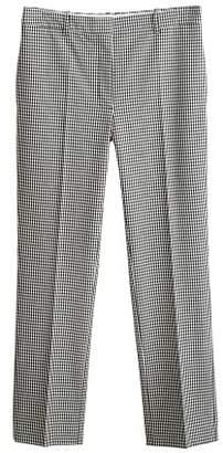 MANGO Gingham suit trousers
