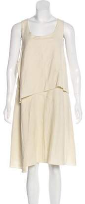 Hache Sleeveless Linen Dress