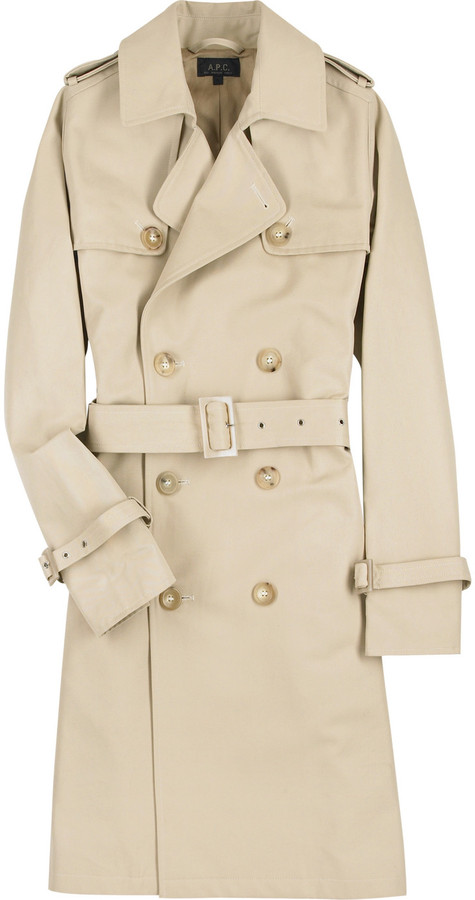 A.P.C. Belted cotton trench