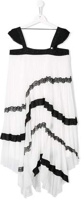 Givenchy Kids pleated special occasion dress