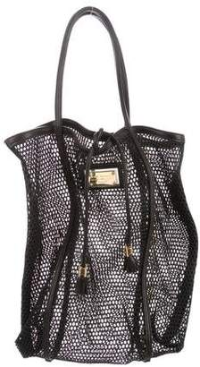 Dolce & Gabbana Leather-Trimmed Mesh Tote