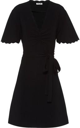Miu Miu scalloped trim wrap dress