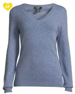 Lord & Taylor Essential Cashmere V-Neck Sweater
