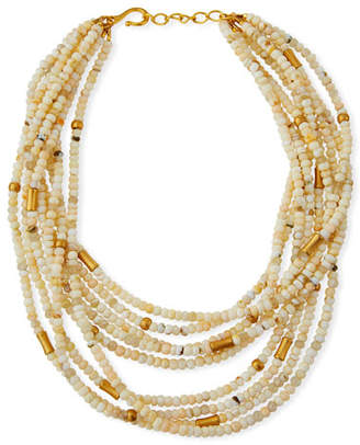 Dina Mackney Agate 9-Strand Necklace