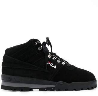 Fila mid-top lace-up sneakers