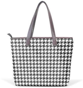 c3fce534c3 IMOBABY Women Large Tote Top Handle Shoulder Bags Classic Houndstooth  Patern Ladies Handbag