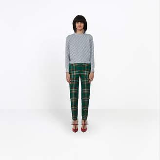 Balenciaga Lurex knit logo crewneck sweater