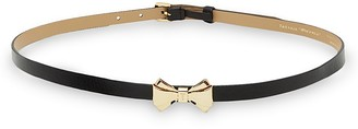 Ted Baker Curved Bow Leather Belt $89 thestylecure.com