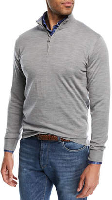 Peter Millar Merino Silk Quarter-Zip Sweater